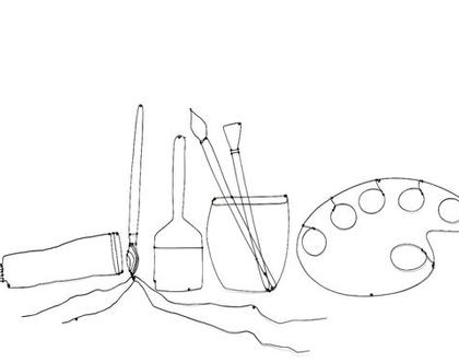 """""""כלי ציור"""" - עבודת חוטי ברזל"""