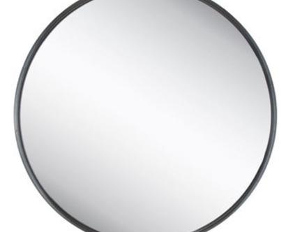 מראה מברזל עגולה שחור קוטר 60 סמ