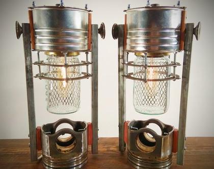 מנורות שולחן מחלקי מתכת