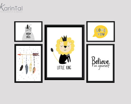תמונות לחדרי ילדים   פוסטרים למסגור   תמונות לחדרי ילדים תינוקות   עיצוב חדר ילדים   אריה