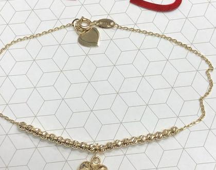 מתנה מיוחדת לוולנטיין, צמיד זהב אדום,
