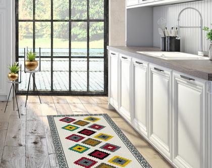 שטיח פי.וי.סי מעוצב דגם SHILA | שטיח למטבח | שטיח PVC מעוצב לבית