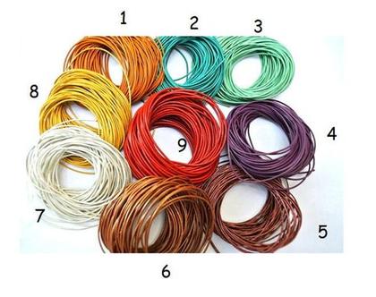 חוט עור צבעוני 10מ, חוט חריזה צבעוני לבחירתכם 9 צבעים, חוט ליצירה