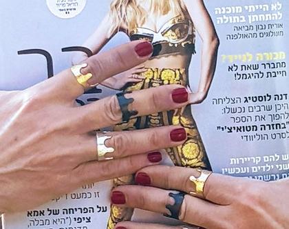 טבעת נסיכה עדינה מזהב בעיצוב מיוחד בעבודת יד