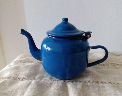 קומקום וינטג' כחול לתה