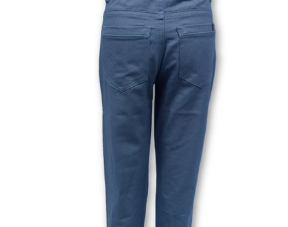 מכנס כותנה כיס עגול צבע אפור בהיר