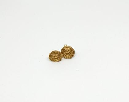עגילי מטבע זהב קטן