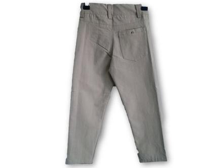 מכנס כותנה כיס עגול צבע קמל
