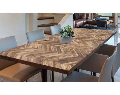 מפת שולחן פי.וי.סי - דגם Fishbone | מפת שולחן מעוצבת | מפת שולחן מבודדת חום | מפת שולחן בהתאמה אישית | מפת שולחן פישבון