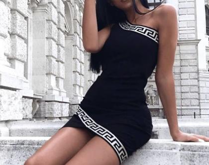 שמלה מיני כתף אחד