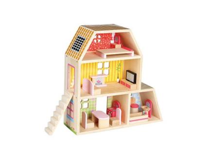 בית בובות קטן מעץ דגם בית הבובות שלי