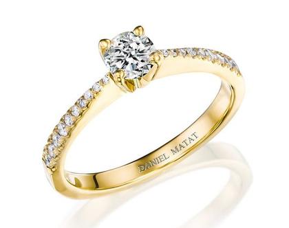 טבעת אירוסין יהלום / RA400