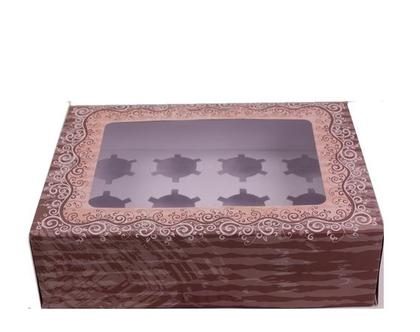 אריזת קרטון חכמה ל 12 קאפקייקס | אריזות לעוגות | קופסת קרטון עם במה לקאפקייקס