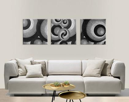 תמונות יפות לבית בצבע שחור ולבן| סט תמונות מעוצבות | Abstract Art | סט תמונות שחור ולבן