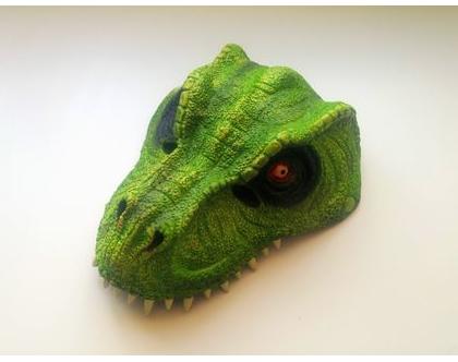 מסיכת דינוזאור ירוק אביזרים משלימים לתחפושות