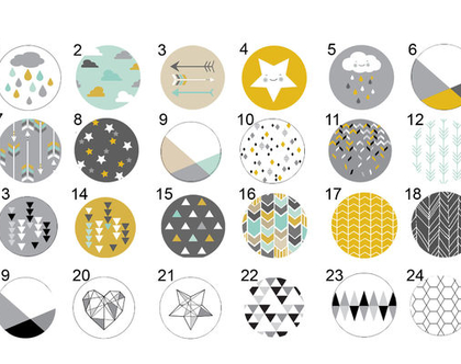 סט של 3-12 ידיות מעוצבות לבחירה, ידיות לעיצוב הבית ,עיצוב סקנדינבי מנימליסטי
