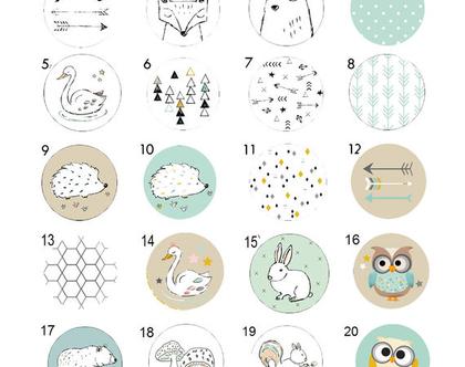 סט של 3-12 ידיות מעוצבות לבחירה, ידיות לעיצוב הבית ,חיות היער