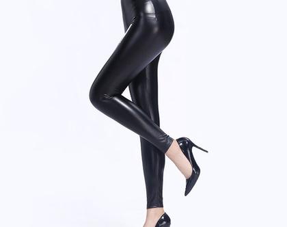 מכנס דמוי עור | מכנס עור | מכנס שחור | מכנסיים שחורים | מכנסיים צמודים | סקיני | מכנס סקיני שחור | מכנס לאישה | מכנסיים לנשים | מכנס קלאסי
