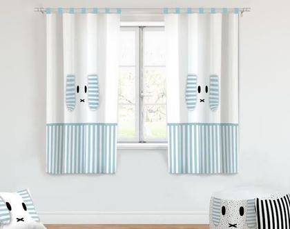 וילון לחדר ילדים ארנב מיפי תכלת/ וילון לחדר ילדים/ וילון מעוצב לחדר ילדים/ וילונות לחדרי ילדים/ וילונות בהתאמה אישית/ וילון בהזמנה ציקיטס