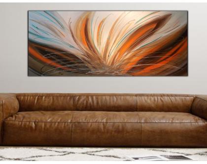 """""""רוח מדברית"""" - תמונת אבסטרקט מיוחדתבעבודת יד מאוד בצבעים שוקקים."""