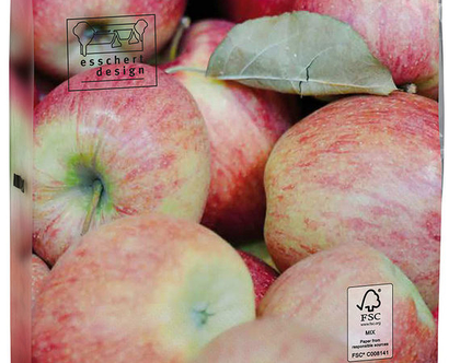 TP303 | מפיות נייר מעוצבת | מפית | תפוח | אקססוריז | שקיות אקולוגיות