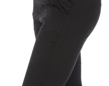 מכנס שחור גומי קלאסי