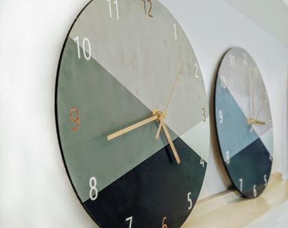 שעון קיר בעיצוב מנימליסטי /שעון קיר גדול לסלון/ שעון דקורטיבי למטבח/שעון קיר למשרד.ירוק בקבור