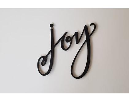 שלט joy בצבע פחם