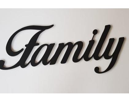 שלט Family בצבע פחם