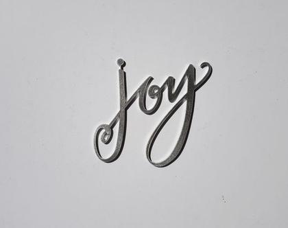 שלט Joy מאלומיניום בגימור כסף