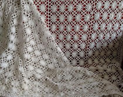 כיסוי מיטה תחרה מאטליה | כיסוי מיטה תחרה מכותנה