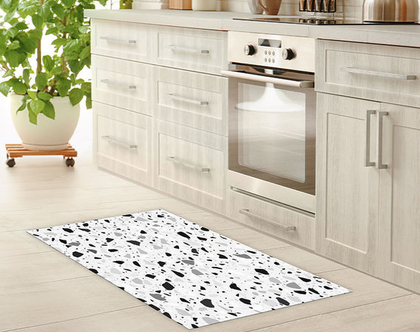 שטיח לינולאום מעוצב Terrazzo Seamless | שטיח פי.וי.סי PVC | שטיח לבית | שטיח למטבח |שטיח לחדר