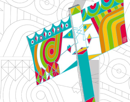 """דגל פורים - ושתי ואסתר - DIY - דגם גדול (40X26 ס""""מ) - פעילות יצירה לפורים - ערכת הכנה - קובץ להדפסה"""