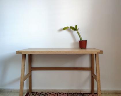 שולחן עבודה נורדי עץ מלא