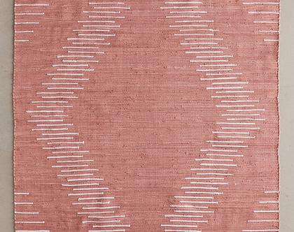 שטיח נורדי ורוד מעושן, שטיח ורוד, שטיח גיאומטרי ורוד