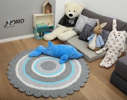 שטיח סרוג קוטר 1.20 מ' /שטיחים סרוגים/שטיח סרוג מחוטי טריקו