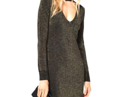 Michael Kors | שמלת נצנצים כסף מיקל קורס