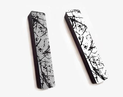 בית מזוזה מעוצב, מזוזה מודרנית עיצוב עכשווי, יודיאיקה עכשווית, מתנה לחנוכת הבית, מזוזה דגם שיש שחור לבן