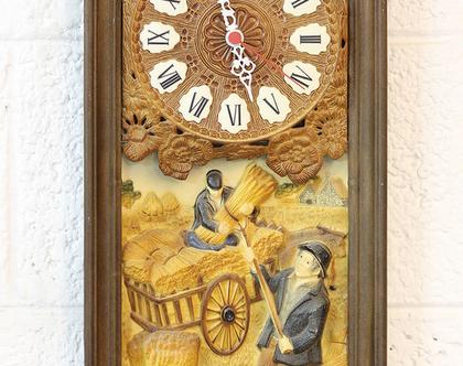 שעון קיר וינטאג׳ צרפתי גדול, שעון בקליט גדול
