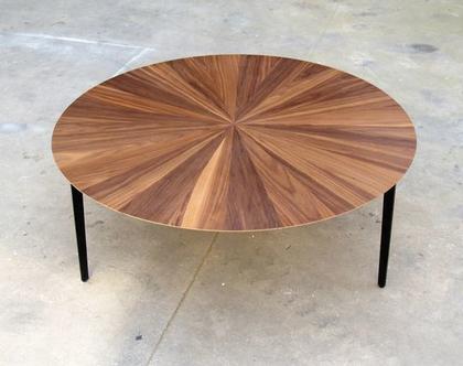 שמש - שולחן סלון עגול מעוצב