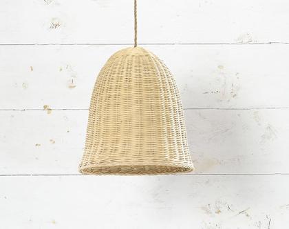 אהיל קש קלוע מבמבוק בצבע טבעי בקליעה צפופה המוצר כולל אהיל בלבד