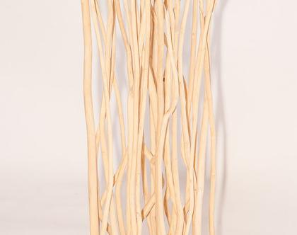 סטנד גובה מעוצב מענפים של עץ טיק *** אפשרות משלוח חינם***