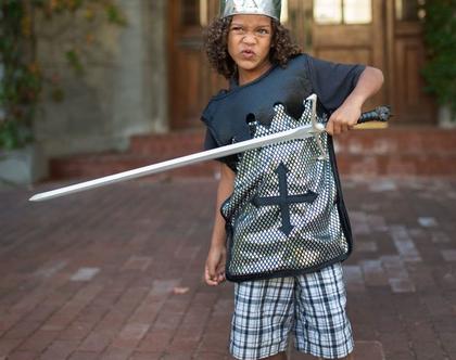 חרב עם ראש זאב כסופה למשחק ולתחפושת | חרב לילדים עשויה חומר רך