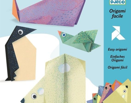 אוריגמי חיות קוטב   אוריגאמי מיוחד קיפולי נייר ציבעוניים לילדים ומבוגרים   פעלות לכל גיל