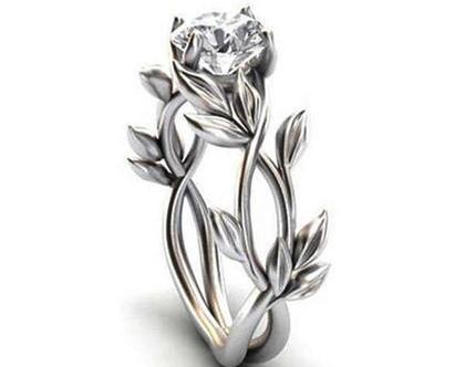 טבעת אירוסין כסף 925 מידה 8