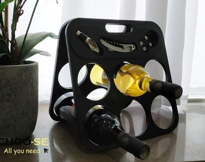 מתקן ליין, עיצוב לבית, מתנה לחג, פותחן בקבוקים, ערכה ליין, מתנה לגבר, סטנד יין, צ׳ירס BM1495