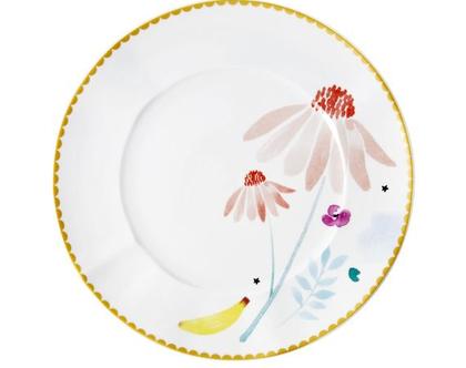 צלחת פורצלן מנה ראשונה | פרח קמומיל | RICE | SOFI