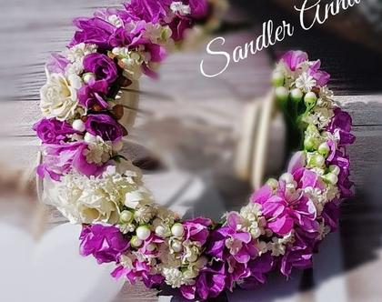 זר לראש מפרחים מלאכותיים | קשת לשיער | פרחי משי | פרחים מלאכותיים | זר פרחים | קשת פרחים לראש | קשת לשיער| זר לראש | זר יום הולדת