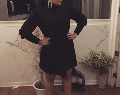 שמלה 'נואל' - שחור- 40%!!