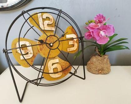 שעון, שעון שולחן, שעון דקורטיבי, מתנה לחג, עיצוב לבית, שעון מאוורר